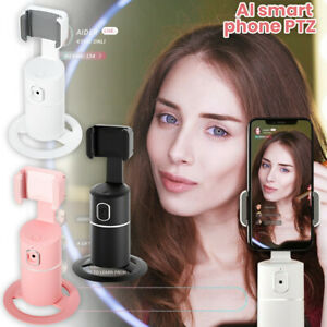 AI Smart Body Detection Tracking Holder 360° Face Tracking Mobile Phone Stand UK