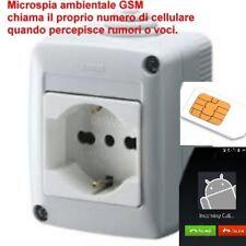 microfono ambientale spia in PRESA di casa GSM cimice microspia nascosta GEWISS