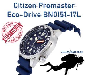 ✅ Citizen BN0151-17L Eco-Drive ProMaster Black Rubber Diver's 200m Men's Watch