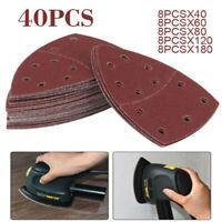 40pcs 60 - 240 Körnung Schleifblätter für Bosch Psm 100A Detail Palm Sander