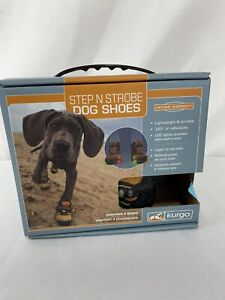 Kurgo Step N Strobe LED Dog Shoes - Size: XXSmall Waterproof NEW - Set of Four