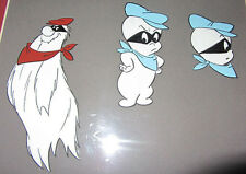 CASPER THE GHOST MATTED &  FRAMED HANNA-BARBERA MODEL CEL w/ 3 GHOSTLY IMAGES
