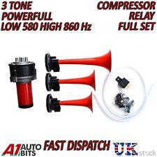 12v Air Compressor Horn/Siren 3 Tone for Car Boat Car Truck Complete Kit