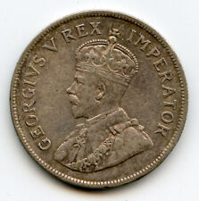 SOUTH AFRICA 1930 KING GEORGE V 2-1/2 SHILLINGS RARE DATE TONED XF.
