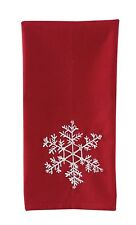 Decorative Towel - Snowflake Beaded - Embroidered