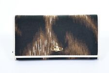 Vivienne westwood brown leopard afrique orb portefeuille sac à main boîte bnwt xl