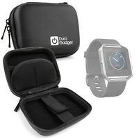 Black Hard EVA Case with Carabiner Clip & Twin Zips for Fitbit Blaze Smartwatch
