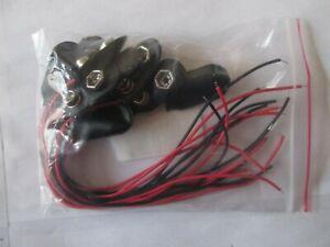lot 10 connecteurs pour pile 9V (6F22)