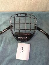 Bauer Profile Ii Ice Hockey Helmet Face Mask Cage Small Black Certified Mask 3