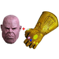 Thanos Full Mask +Infinity Gauntlet LED Gloves Infinity War Marvel Avengers None