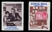 COSTA RICA   SCOTT#  C502-C503  MNH  STAMP ON STAMP TOPICAL