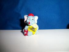 KID eating POPCORN SODA CANDY Figurine CARTOON ELEPHANT CIRCUS Kinder