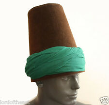 Whirling Dervish hand wrapped turban Hat, sufi hat ''Sikke''