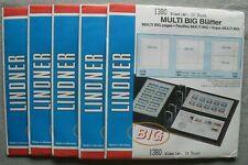 Lindner Multi Big Blätter 1380 5x10 Stück OVP 4-Ring 1-fach glasklar