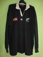 Maillot rugby Canterbury All Blacks New Zealand Vintage Noir Coton Jersey - XL