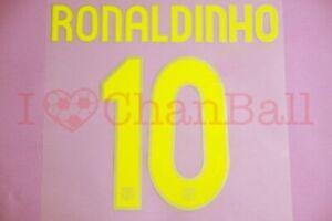 Ronaldinho #10 2007-2008 Barcelona Homekit Nameset Printing