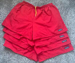 Vintage 90's Mens XL Patagonia Baggies Mesh Lined Drawstring Nylon Shorts Red