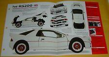 1986 Ford RS200 Rally Car 4 Cylinder 250hp 1803cc Turbo FI info/specs/photo 15x9