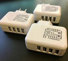 EF 3x 4er USB Mini Netzteil Stecker Steckdose Adapter 220V extra schmal kompakt