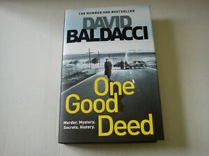 DAVID BALDACCI ONE GOOD DEED 1st Edition HARDBACK BOOK