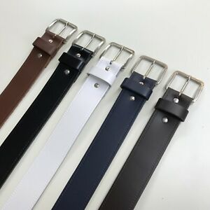 5 COLOURS Real Leather Belts - 40mm Wide - Sizes S, M, L, XL, XXL, XXXL (B5)