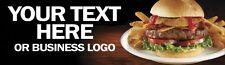Fast Food Restaurant Banner Burger Chips Shop Front 2M X 600MM Excellent Quality