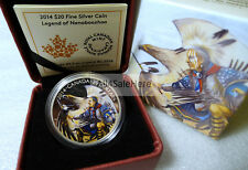 2014 Canada $20 Legend of Nanaboozhoo Colorized 1 oz 9999 Fine Silver Proof Coin