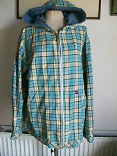 TOMMY HILFIGER Long Sleeve Hooded Check/Denim Cotton Zipped Jacket, Medium-Large