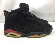 2009 Nike Air Jordan VI 6 Retro BLACK VARSITY RED BRED INFRARED 384664-061 Sz 10