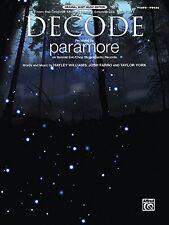 Decode Partitions variété, pop, rock ALFRED PUBLISHING PARAMORE