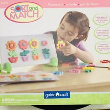 Guidecraft Flower Puzzle Pot Sort & Match Teach Color And Shape-Matching Learn