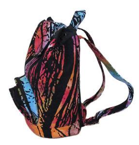 "Tie-dye Bags Indian Cotton Backpack Hippie Mandala Unisex Men Women Fashion Bag"""