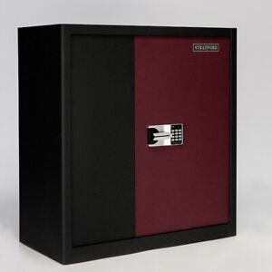 Damaged 90cm Tall Metal Cabinet with Electronic Digital Lock Heavy Duty Safe