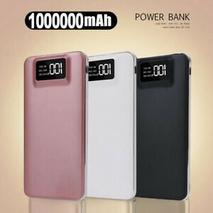 1000000mAh Power Bank Charger Battery Pack Portable Dual USB For Mobile Phone UK