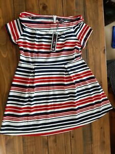 Lovedrobe Bardot Red, White And Blue Dress Size 22 BNWT