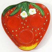 Rossetti Occupied Japan Plate Tray Strawberry Vintage Salt Pepper Shaker EUC