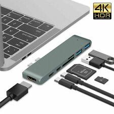 Type C USB 3.1 to USB-C HDMI USB 3.0 Adapter 7 in 1 Hub Splitter For MacBook Pro