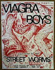 Viagra Boys 2019 Gig Poster Vancouver Canada Concert Street Worms Bc