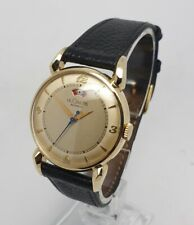 Le Coultre Vintage 14K Solid Yellow Gold Power Matic 33mm Watch 1950s Jaeger