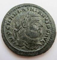 Rome MAXIMIANUS AE Follis Cyzicus GENIO XF+