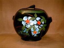 Vintage McCoy Pottery Hand Painted Ball Jar Cookie Jar w/ Slanted Knob-Black