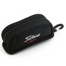 Titleist Japan Golf Round Ball Case Pouch Bag w/Hook AJBC62 Black F/S K