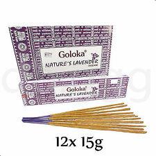 GOLOKA  NATURE'S LAVENDER BIG PACK 12 x 15 g  Räucherstäbchen