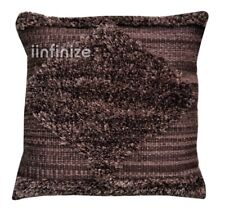 "Vintage Kilim Pillow Case 18"" Hand Woven Shaggy Rug Cushion Outdoor Sofa Pillows"