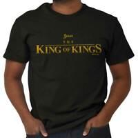 Jesus Christ King Of Kings Christian Cartoon Short Sleeve TShirt Tees Tshirts