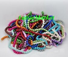 100 x glass beads imitation pearl mixed colours loose 6mm jewellery jewelry new