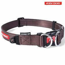 EzyDog Double Up Dog Collar-Super Strong Double D Ring-Large Size Free Uk P&P