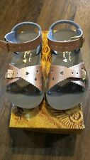 New Sun-San Salt Water Sandals,Sweetheart style,rose gold leather, toddler 9,NIB