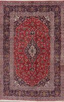 Vintage Traditional Floral Area Rug Wool Hand-Knotted Oriental Carpet 7x10