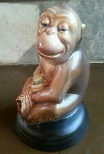 Beswick Ware Monkey Figurine Apple 307 8061 Brown Black Attached Base England